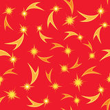 Holiday firework seamless pattern. Abstract Christmas seamless background from firework and snowflakes Royalty Free Stock Photo
