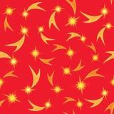 Holiday firework seamless pattern Royalty Free Stock Photo