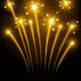 Holiday fireworks. Against the dark sky. Vector illustration Royalty Free Stock Photo