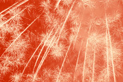 Holiday fireworks background Stock Image
