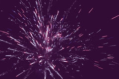 Holiday fireworks background Stock Photography