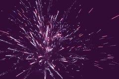 Holiday fireworks background Stock Photography