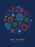 Holiday fireworks circle decor pattern background Royalty Free Stock Images