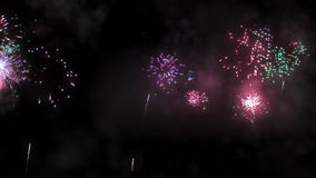 Holiday fireworks stock video footage