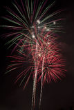 Holiday Fireworks Colorful Night Sky. Holiday fireworks in a colorful night sky Stock Photo