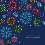 Holiday fireworks corner decor pattern background. Vector holiday fireworks corner decor pattern background with hand dralements Stock Photography
