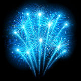 Holiday fireworks. On dark background. Vector illustration vector illustration
