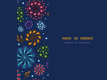 Holiday fireworks frame horizontal seamless. Vector holiday fireworks frame horizontal seamless pattern background with hand dralements Royalty Free Stock Photography