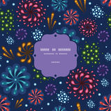 Holiday fireworks frame seamless pattern Royalty Free Stock Photography