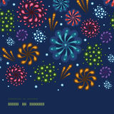 Holiday fireworks horizontal seamless pattern. Vector holiday fireworks horizontal seamless pattern background with hand dralements Royalty Free Stock Photos