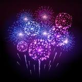 Holiday fireworks. Illustrtion of fetivl colorful  holiday fireworks Stock Photos