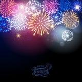 Holiday fireworks. Illustrtion of fetivl colorful  holiday fireworks Stock Photography