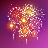 Holiday fireworks. For independence day Stock Photography