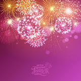 Holiday fireworks. For independence day Stock Images