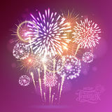 Holiday fireworks. For independence day Royalty Free Stock Image