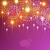 Holiday fireworks. For independence day Royalty Free Stock Photos