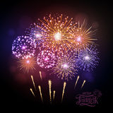 Holiday fireworks. For independence day Stock Photos