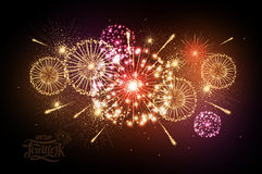Holiday fireworks. For independence day Royalty Free Stock Photography