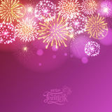 Holiday fireworks. For independence day Stock Image