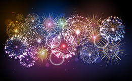 Holiday fireworks. For independence day Royalty Free Stock Photo