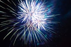 Holiday fireworks at night Royalty Free Stock Images