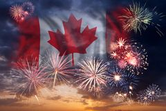 Free Holiday Fireworks On Day Of Canada Royalty Free Stock Photography - 118845927