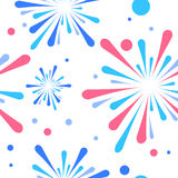 Holiday fireworks seamless pattern. Colorful festive fireworks in the sky Stock Images