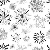 Holiday fireworks seamless pattern Stock Image