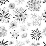 Holiday fireworks seamless pattern Stock Image