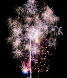 Holiday fireworks in the sky Royalty Free Stock Images