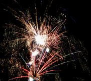 Holiday fireworks in the sky Royalty Free Stock Photography