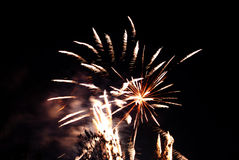 Holiday fireworks in the sky Royalty Free Stock Image