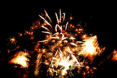 Holiday fireworks in the sky Royalty Free Stock Photo