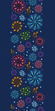 Holiday fireworks vertical seamless pattern. Vector holiday fireworks vertical seamless pattern background with hand dralements Royalty Free Stock Photography