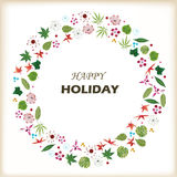 Holiday flower ring Stock Photo