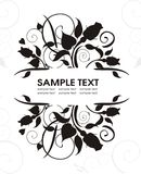 Holiday frame. Vector frame with roses easy to modify Stock Photos