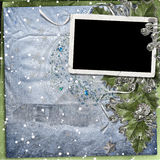 Holiday frame with berry Stock Photography