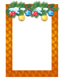 Holiday frame Stock Images