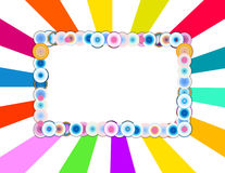 Holiday Frame on Colorful Background Stock Photo
