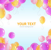Holiday frame with colorful balloons Royalty Free Stock Images