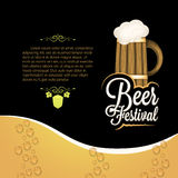 Holiday - frame happy beer festival royalty free illustration