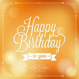 Holiday - frame happy birthday Royalty Free Stock Image