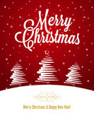 Holiday - frame happy merry christmas Stock Photo