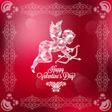 Holiday frame happy valentines day Stock Images