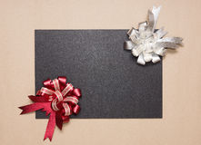 Holiday frame with ribbons Stock Image