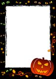 Holiday frame on theme Halloween with field for text Stock Photo