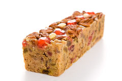 Holiday Fruit Cake Isolated Stock Photos