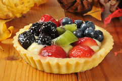 Holiday fruit tart Stock Photos