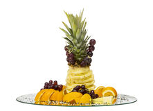 Holiday fruit tray. Holiday dessert of fruit. professional serving tray in a restaurant Royalty Free Stock Photo
