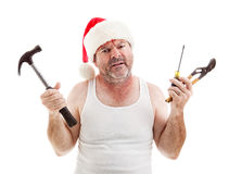 Holiday Frustration Stock Image